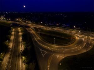 Rudka - skrzyżowanie, wiadukt, stacja Boksycka